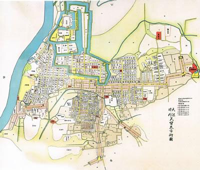 江戸時代の久留米の町並み